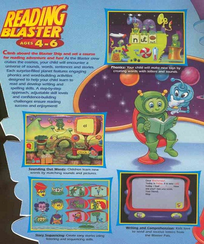 Reading Blaster ages 4-6