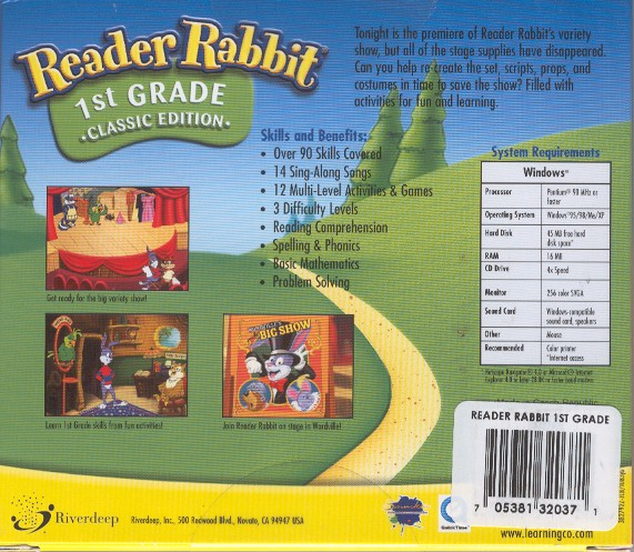 Reader Rabbit 1st Grade Information And Pricing From Smart